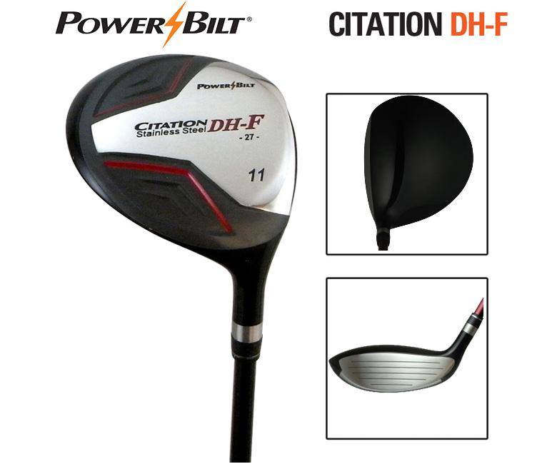 パワービルト ゴルフ CITATION DH-F ェアウェイウッド POWER BILT HB-187F カーボン POWER BILT