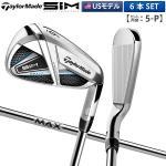 【USモデル】 テーラーメイド ゴルフ SIM MAX アイアンセット 6本組 (5-P) KBS MAX 85 スチールシャフト